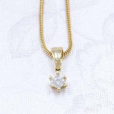 ASS 585 Gold Anhänger Kettenanhänger mit Zirkonia – Bild 2