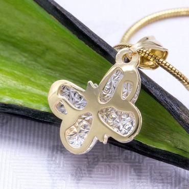 ASS 585 Gold Anhänger Kettenanhänger Schmetterling bicolor 3D Effekt – Bild 3