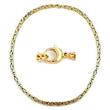 ASS 585 Gold Königskette Halskette Collier 3,5*3,5 mm, 50 cm, Gelbgold vierkant – Bild 3