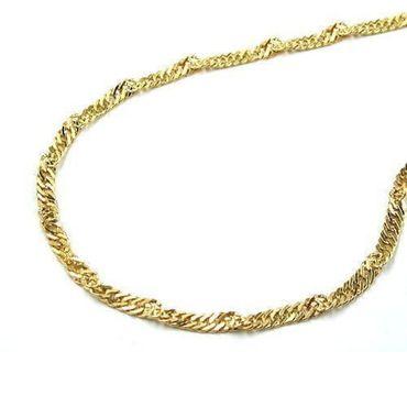 585 Gold Damen Singapur Kette Halskette 55cm 1,5mm Singapurkette,14K – Bild 1
