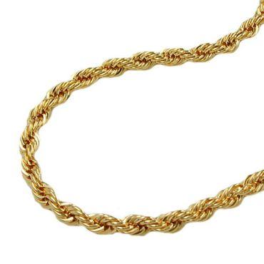 ASS 585 Gold Damen Kordel Kette 3,5 mm 50 cm Halskette Collier Kordelkette 14K – Bild 1