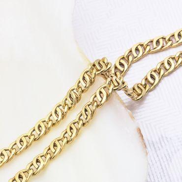 ASS 585 Gold Gelbgold Tigerauge Halskette Goldkette 2,5 mm breit 45 cm lang – Bild 2