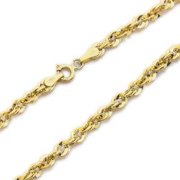 ASS 585 Gold gelb Damen unikales Design Singapur Kordelkette 3,7 mm breit 45 cm lang – Bild 1