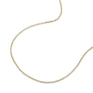 ASS 333 Gold Gelbgold Damen Anker Halskette Ankerkette 1 mm breit 45 cm lang – Bild 1