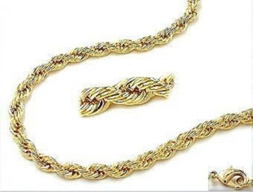 ASS 333 Gold Damen Kordel Kette 2,2mm 45 cm Halskette Collier Kordelkette 8Kt – Bild 2