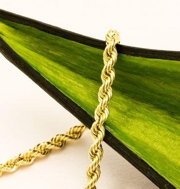 ASS 585 Gold Damen Kordel Kette 3mm 60cm Halskette Collier Kordelkette 14K  – Bild 6
