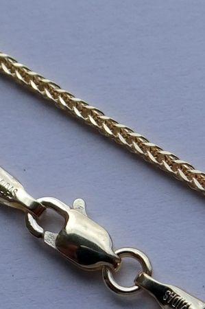 ASS 585 Gold Fuchsschwanzkette Bingo Kette geflochtene 50cm 1,0mm Collier  Halskette 14K – Bild 3
