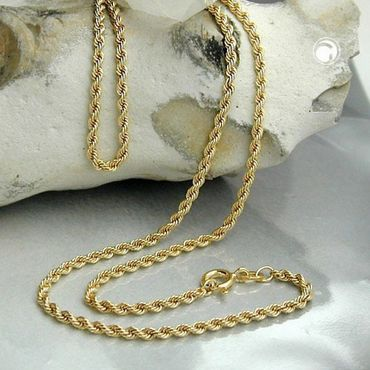 ASS 585 Gold Feine Kordel Kette 1,5 mm 50cm Halskette Collier Kordelkette 14K – Bild 3