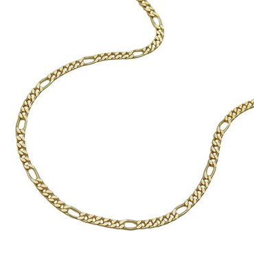 ASS 333 Gold Damen Kinder Figarokette Figaro Kette 38 cm 1,1 mm, diamantiert – Bild 1