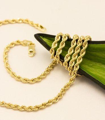 ASS 585 Gold Damen Kordel Kette 3 mm 60 cm Halskette Collier Kordelkette 14K – Bild 2