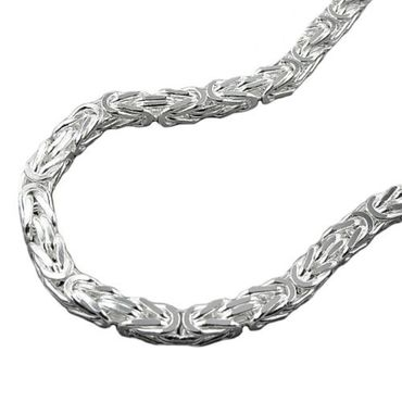 ASS 925 Silber Herren Halskette Collier 3*3 mm, 55 cm, vierkant – Bild 1