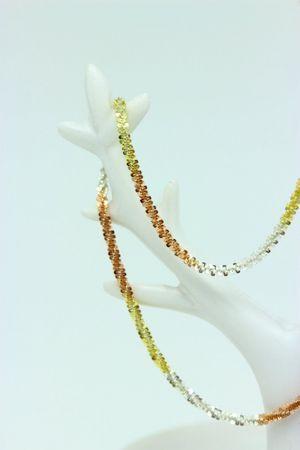 ASS 925 Schlangenkette Schlange Kette Tricolor gemustert 3 farbig,vergoldet,2 mm 45 cm – Bild 5