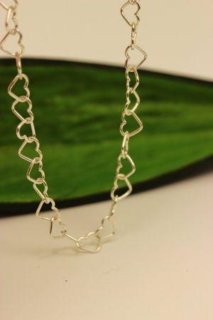 Silber Damen Kinder Fußkettchen Herzkette Fußkette 25cm einstellbar. NEU – Bild 3