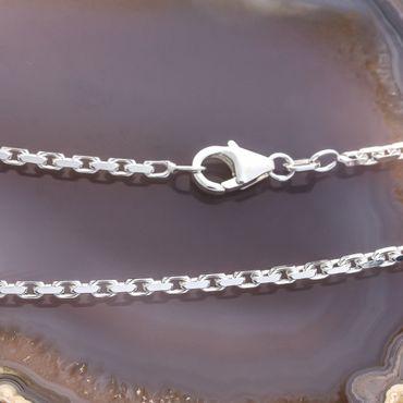 ASS 925 Silber Damen Herren Anker Halskette Ankerkette diamantiert 45 cm – Bild 2