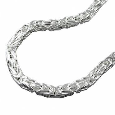 Silber  Königskette Armband 3,5*3,5 mm,21 cm