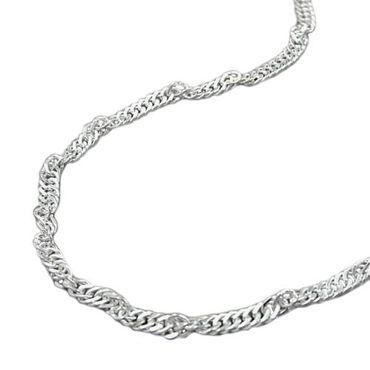 ASS 925 Silber Singapur Armband Singapurarmband 2,5 mm gedreht, diamantiert – Bild 1