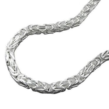 Silber Damen Herren Königskette Armband 4,5*4,5 mm, 21 cm,vierkant – Bild 1