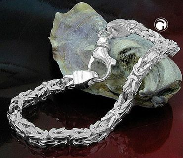 Silber Damen Herren Königskette Armband 4,5*4,5 mm, 21 cm,vierkant – Bild 2