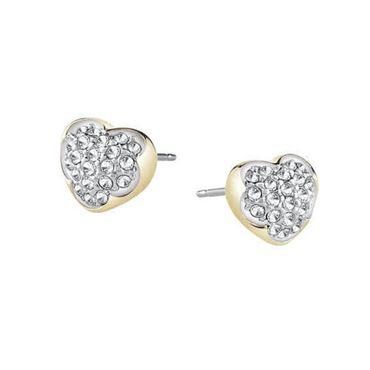 Guess Damen Ohrringe Ohrstecker Herz in goldener Farbe UBE71515 mit Kristallen – Bild 1
