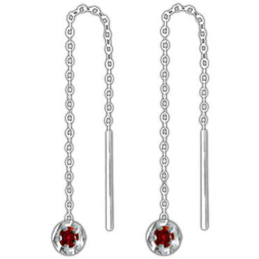 ASS 925 Silber Damen Durchzieher Ankerkette Ohrstecker Ohrringe Ohrhänger mit diamantiertem Teil