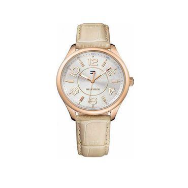 Tommy Hilfiger Damen-Armbanduhr Analog Quarz Mod. SOFIA Leder Armband 1781674  – Bild 1