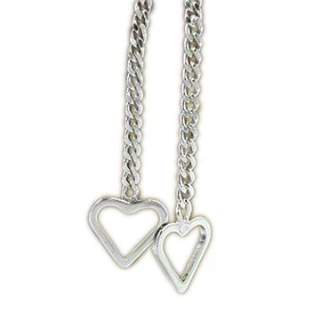 Silber Ohrringe Durchzieher offenes Herz – Bild 1