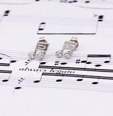 ASS 925 Silber Damen Kinder Ohrstecker Ohrringe Note mit Zirkonia – Bild 5