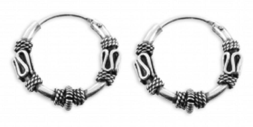 ASS 925 Silber Ohrringe Keltische Celtic Gothic Creolen 16 mm ...
