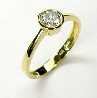 333 Gold Damen Ring  Solitär Zirkonia Gr.16,17,18,19,20 NEU Goldring