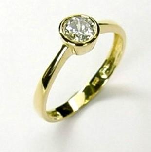 333 Gold Damen Ring  Solitär Zirkonia Gr.16,17,18,19,20 NEU Goldring