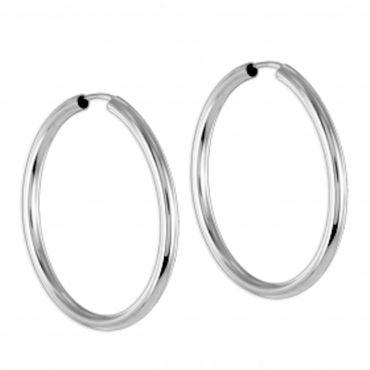 ASS 925 Silber Damen Ohrschmuck Ohrringe Creole 40mm, Creolen,2,5mm breit,glänzend – Bild 1