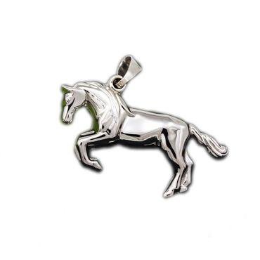 ASS 925 Silber Anhänger Pferd Kettenanhänger Glücksbringer glanzpoliert 25mm – Bild 1
