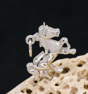 ASS 925 Silber Anhänger Pferd Kettenanhänger Glücksbringer glanzpoliert – Bild 2