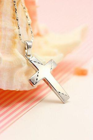 ASS 925 Silber Kommunion Konfirmation Taufe Kreuzanhänger Kreuz massiv,rhodiniert,21mm – Bild 3