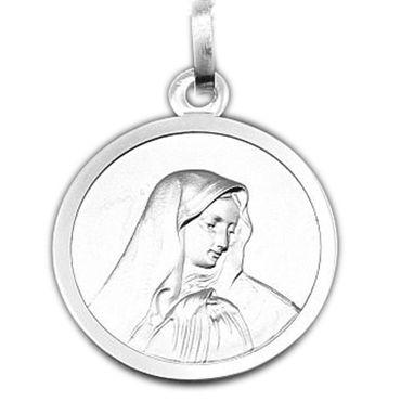 ASS 925 Silber Anhänger Amulett Jesus Heilige Maria Mutter Madonna massiv – Bild 1