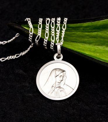 ASS 925 Silber Anhänger Amulett Jesus Heilige Maria Mutter Madonna massiv – Bild 3