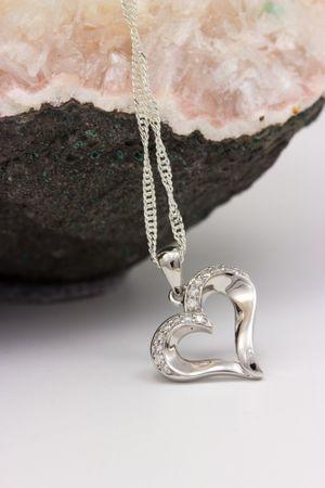 ASS 925 Silber Anhänger Herz 17mm rhodiniert mit Zirkonia weiß Kettenanhänger Herzanhänger – Bild 5