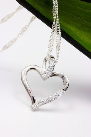 ASS 925 Silber Anhänger Herz 16mm rhodiniert mit Zirkonia weiß Kettenanhänger Herzanhänger – Bild 4
