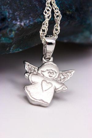 ASS 925 Silber Anhänger Engel Schutzengel mit Herz und Zirkonia zur Kommunion Konfirmation – Bild 6
