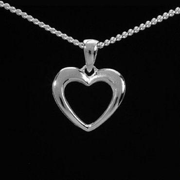 ASS 925 Silber  Anhänger Herz mit Kette, Herzanhänger,Kettenanhänger – Bild 2