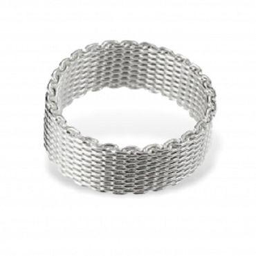 Silber Damen Herren Ketten Ring Gr.18 – Bild 1