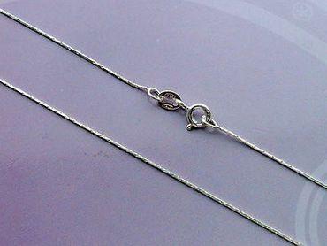 925 silber Damen Kinder Herren Halskette Kette 1mm 45 cm. Neu .Italien.