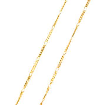 ASS Gold Double Figaro Kette Figarokette Collier Halskette 45cm vergoldet – Bild 1