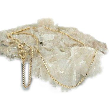 Gold Double Damen Venezianer Kette Venezianerkette Collier Halskette 45cm – Bild 2