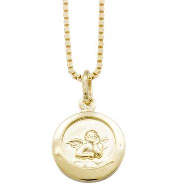 ASS 333 Gold Anhänger Engel,Schutzengel,rund 10mm,, Kettenanhänger – Bild 1