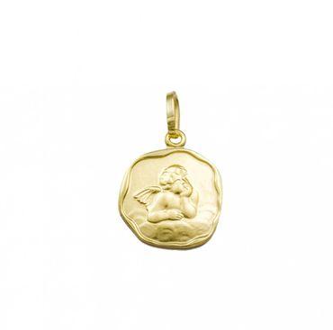 """ASS 333 Gold Anhänger Engel,Schutzengel,12mm, mit Gravur """"Gott schütze dich"""", Kettenanhänger – Bild 1"""