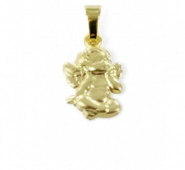 ASS 333 Gold Anhänger Engel Schutzengel, Kettenanhänger 18mm Taufanhänger – Bild 3