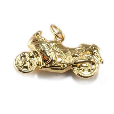 ASS 333 Gold Männer Herren Anhänger Motorrad  Kettenanhänger 13mm x 24mm beidseitig geformt
