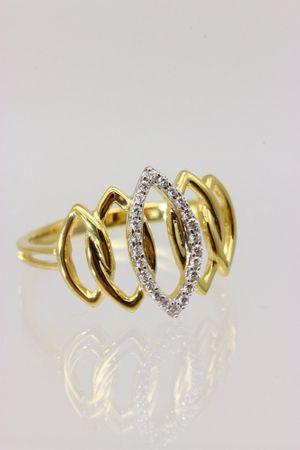 ASS 333 Gold Damen Marquise Ring mit 24 Zirkonia weiß Goldring,Gelbgold Gr.18 (56) – Bild 6