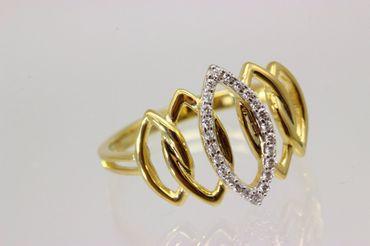 ASS 333 Gold Damen Marquise Ring mit 24 Zirkonia weiß Goldring,Gelbgold Gr.18 (56) – Bild 7
